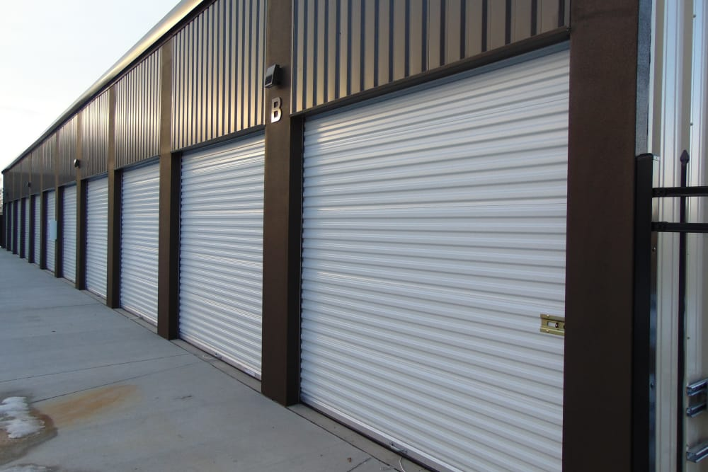 Storage units at Laramie Self Storage in Laramie, Wyoming