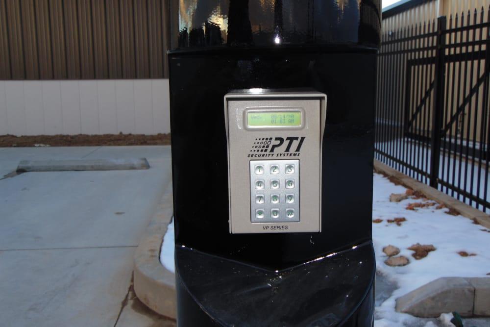 Gated security at Laramie Self Storage in Laramie, Wyoming