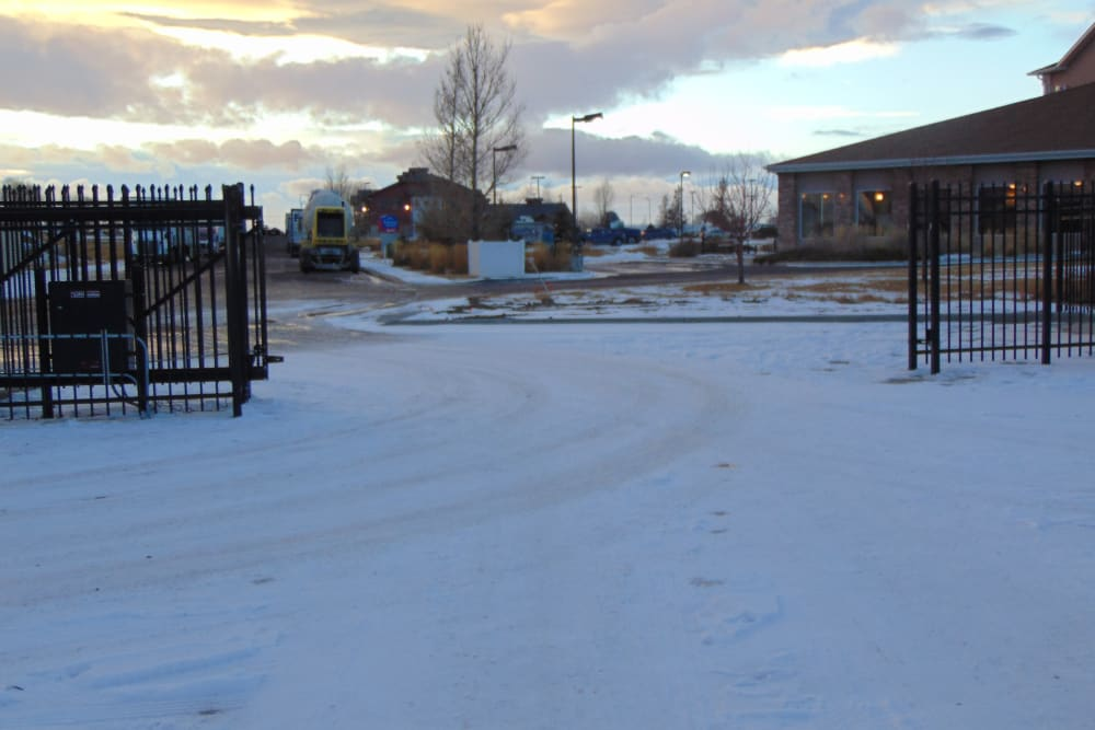 Front entrance at Laramie Self Storage in Laramie, Wyoming