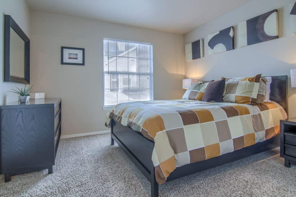 Beautiful bedroom at Villas at Countryside in Moore, Oklahoma