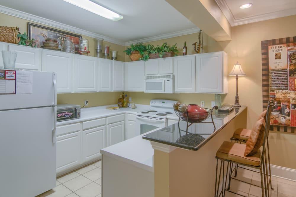 Luxury kitchen at Twin Oaks in Hattiesburg, Mississippi