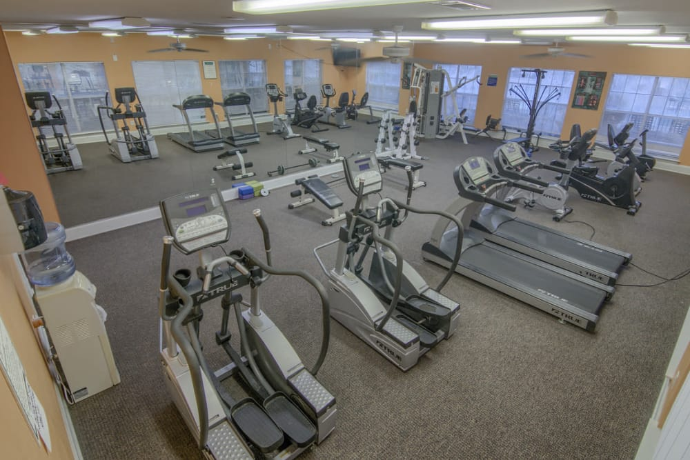 Fitness center at Twin Oaks in Hattiesburg, Mississippi