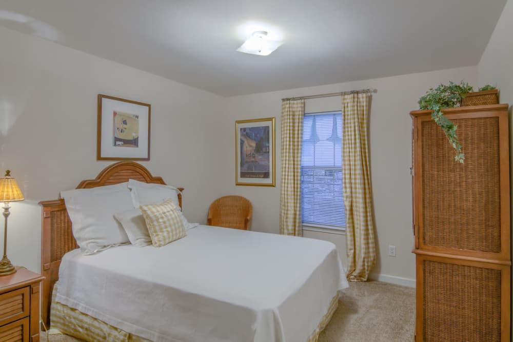 Luxury bedroom at Twin Oaks in Hattiesburg, Mississippi