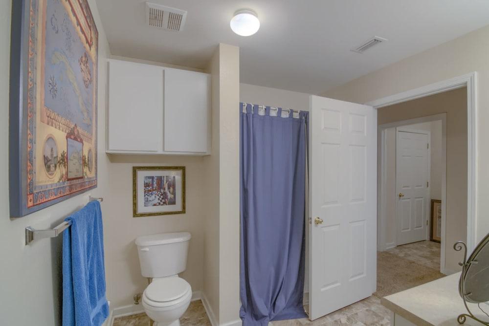Luxury bathroom at Twin Oaks in Hattiesburg, Mississippi