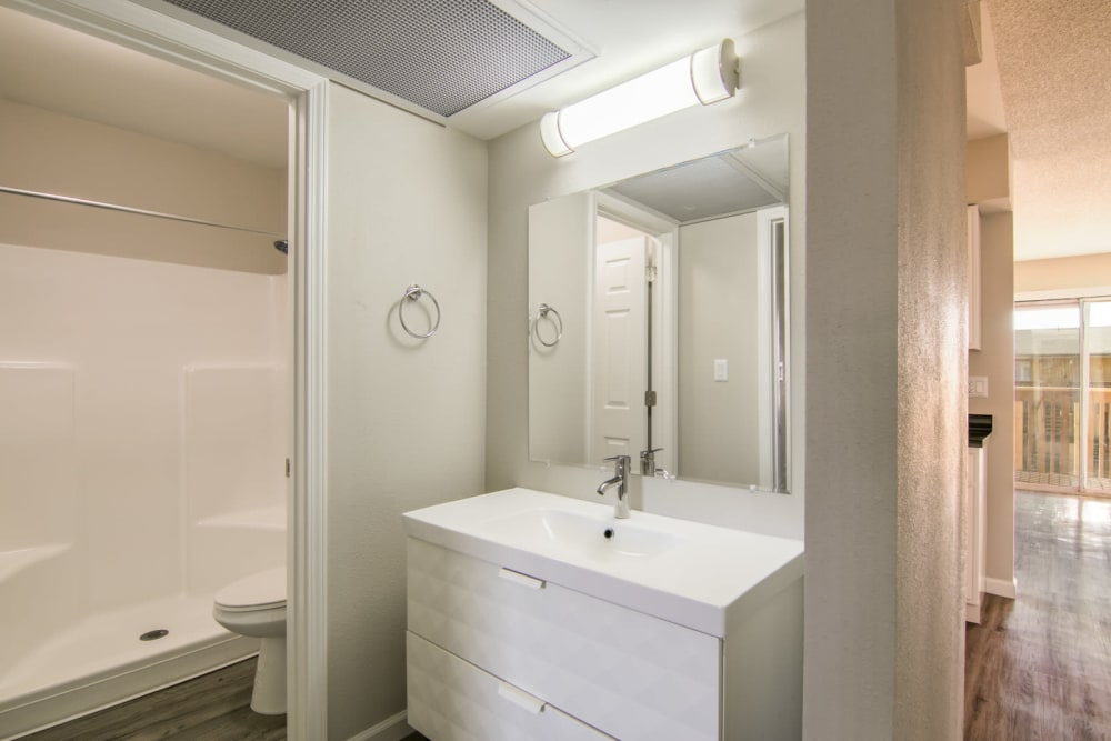 Our beautiful apartments in Albuquerque, New Mexico showcase a bathroom