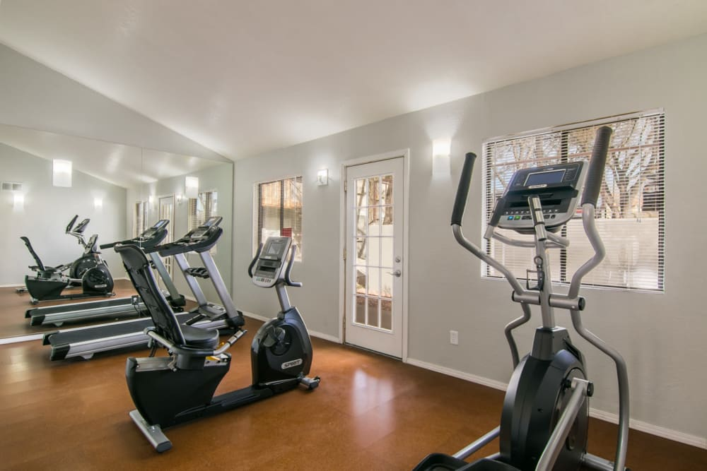Our beautiful apartments in Albuquerque, New Mexico showcase a fitness center