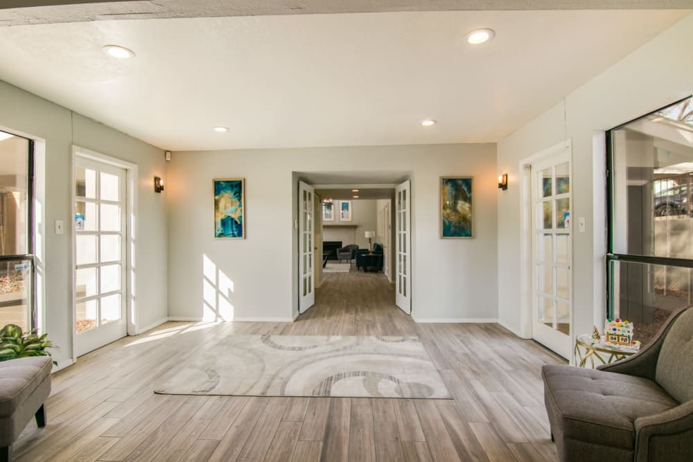 Our beautiful apartments in Albuquerque, New Mexico showcase a living room