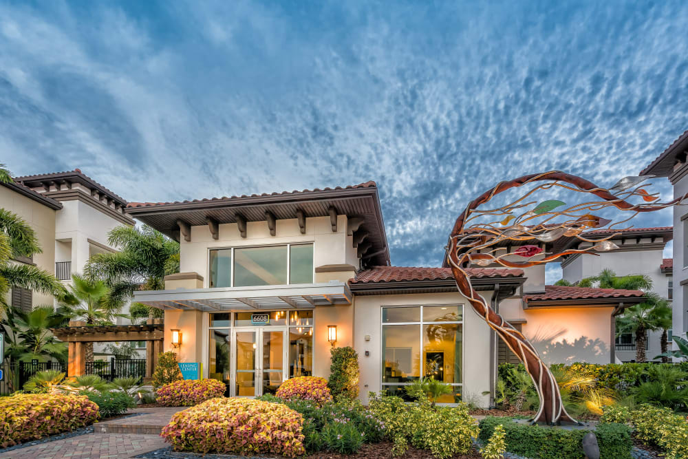 Jefferson Westshore exterior and beautiful sky in Tampa, Florida