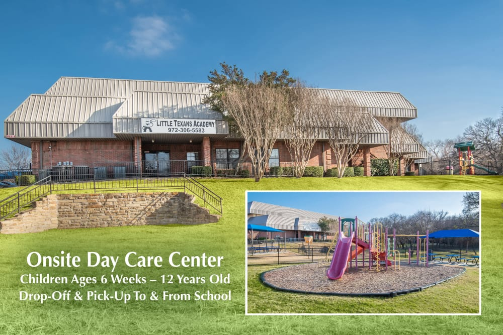 Carrollton Park of North Dallas in Dallas, Texas has an on-site daycare center