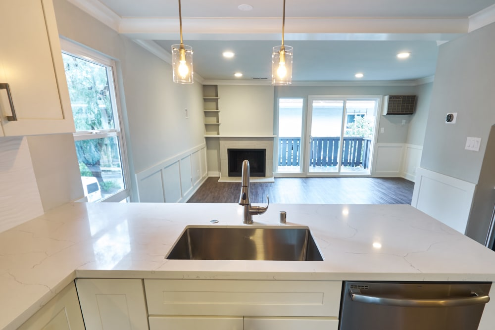 White kitchen at Ladera in Lafayette, California