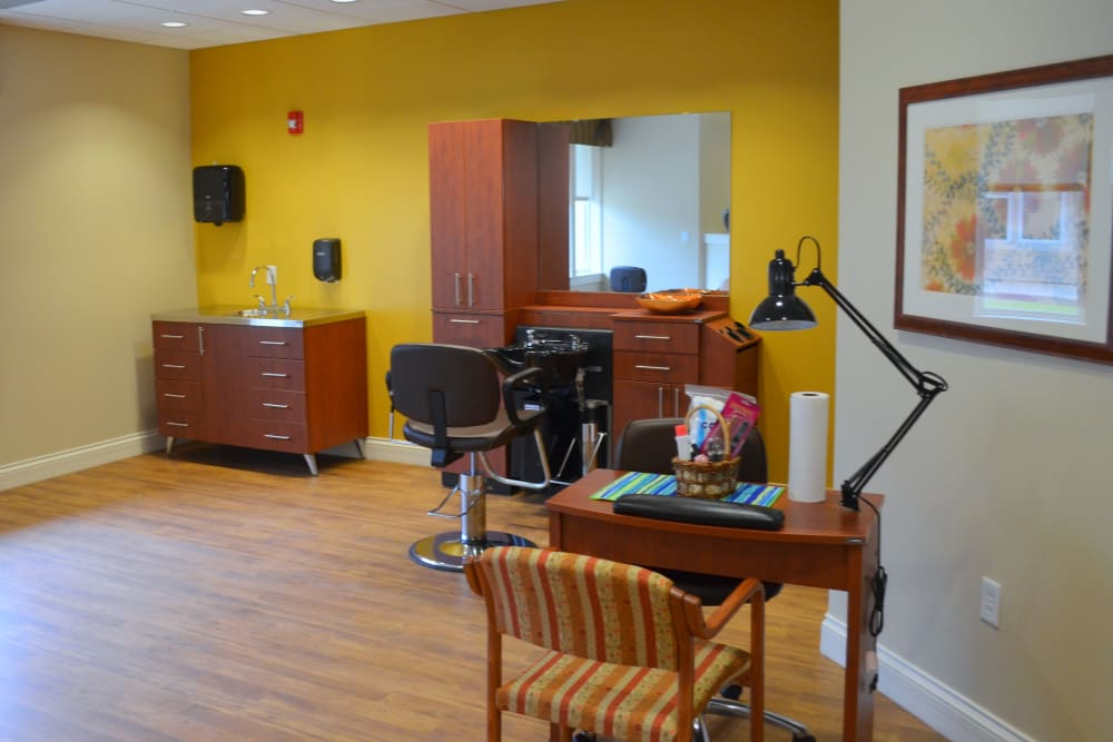 A salon for residents at Avenir Memory Care at Little Rock in Little Rock, Arkansas
