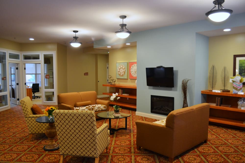 The common area at Avenir Memory Care at Little Rock in Little Rock, Arkansas.