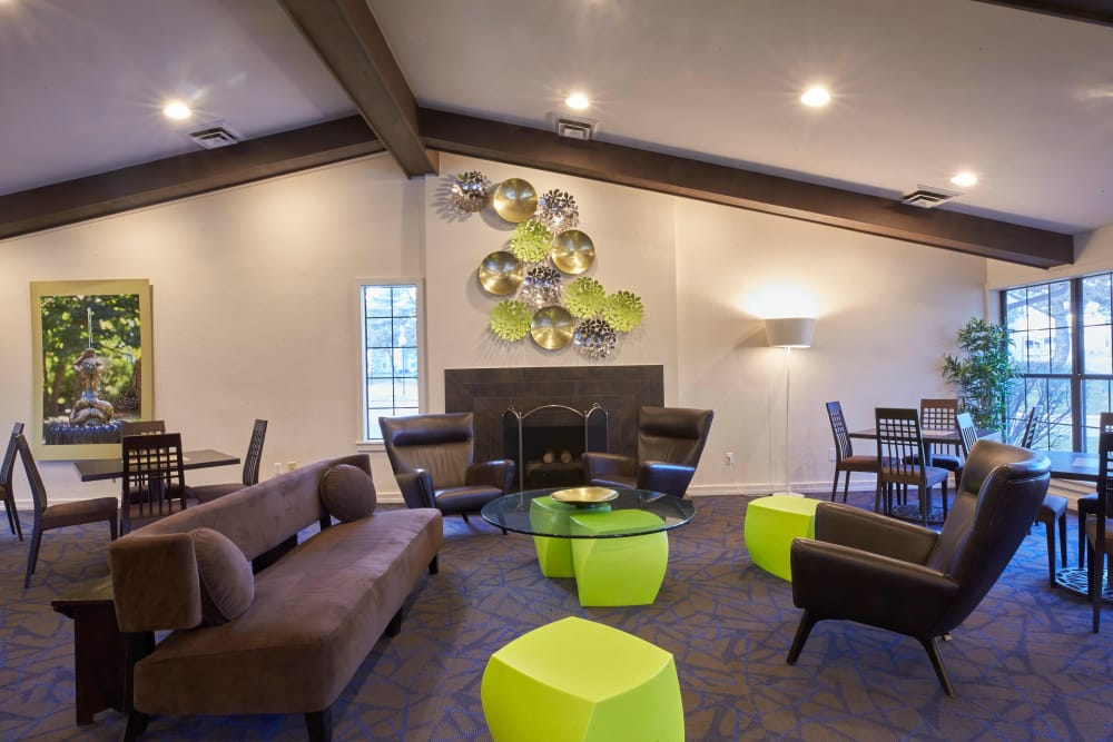 Sitting area in clubhouse at Muirwood in Farmington Hills, Michigan