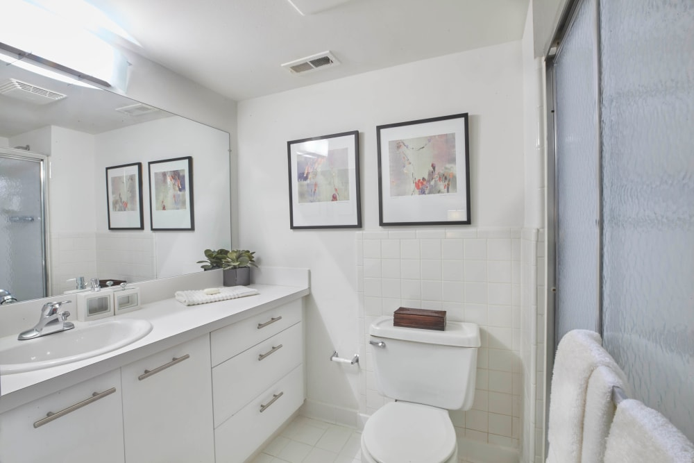 Master bathroom in Farmington Hills, Michigan at Muirwood