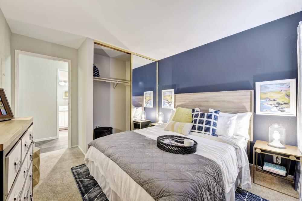 Cozy bed at Terra Martinez in Martinez, California