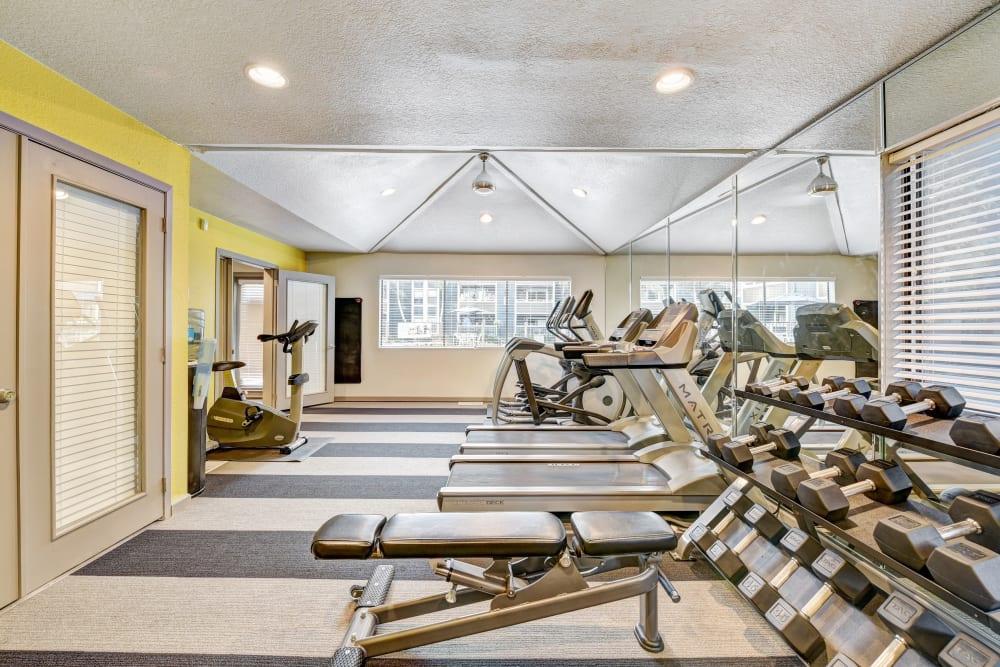 Fitness equipment at Terra Martinez in Martinez, California