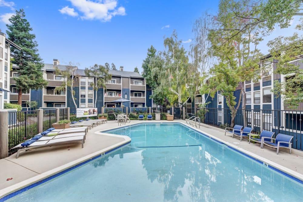 Sparkling pool at Terra Martinez in Martinez, California