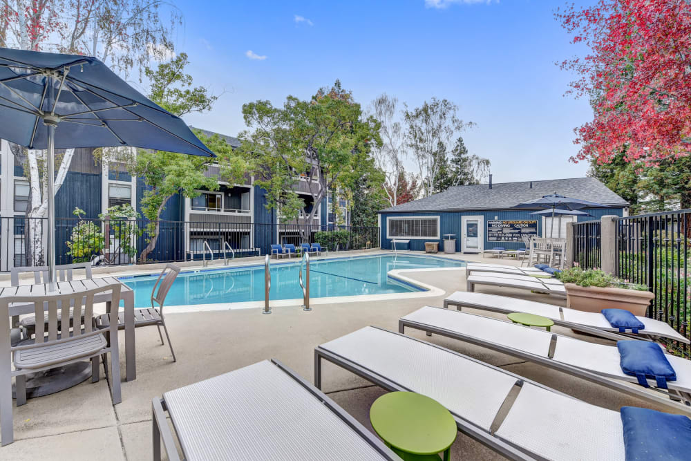 Outdoor pool at Terra Martinez in Martinez, California