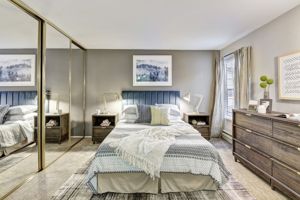 Large bedroom at Terra Martinez in Martinez, California