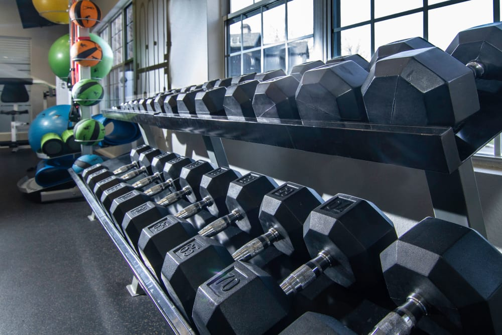 Workout room at Alpine Meadows Apartments in Sandy, Utah