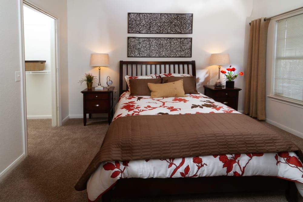 Bedroom model at Alpine Meadows Apartments in Sandy, Utah