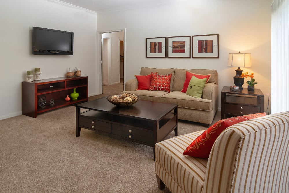 Living space at Alpine Meadows Apartments in Sandy, Utah