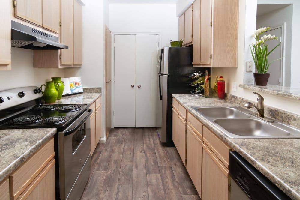 Kitchen at Alpine Meadows Apartments in Sandy, Utah
