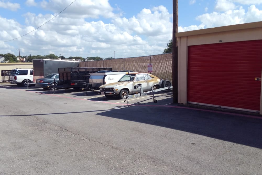 Parking at StorQuest Self Storage in Fort Worth, TX