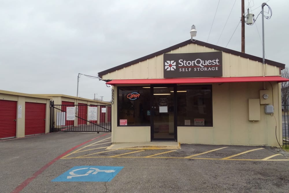 Store front at StorQuest Self Storage in Fort Worth, TX