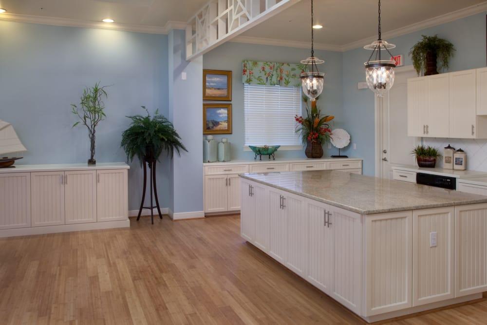 Receptionist desk at Villa Grande on Saxon in Orange City, Florida