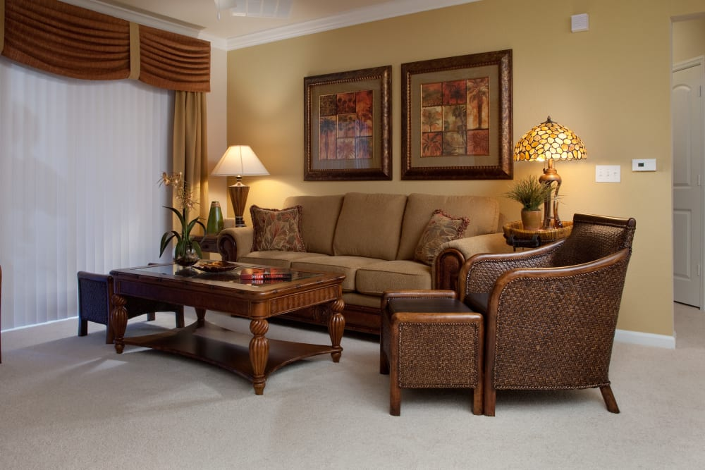Comfortable living room at Villa Grande on Saxon in Orange City, Florida