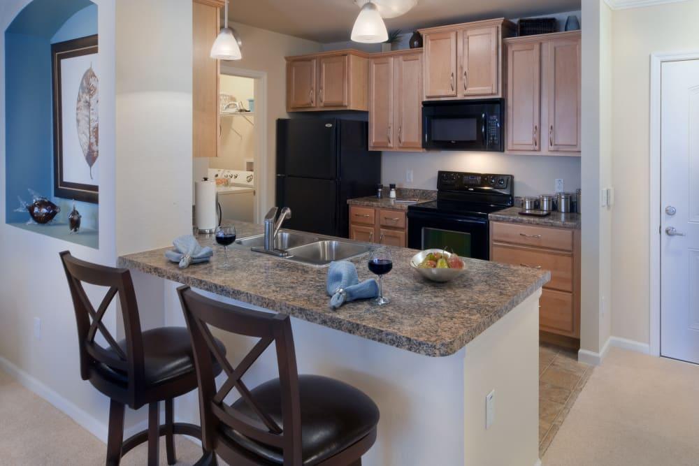 Bar and kitchen at Villa Grande on Saxon in Orange City, Florida
