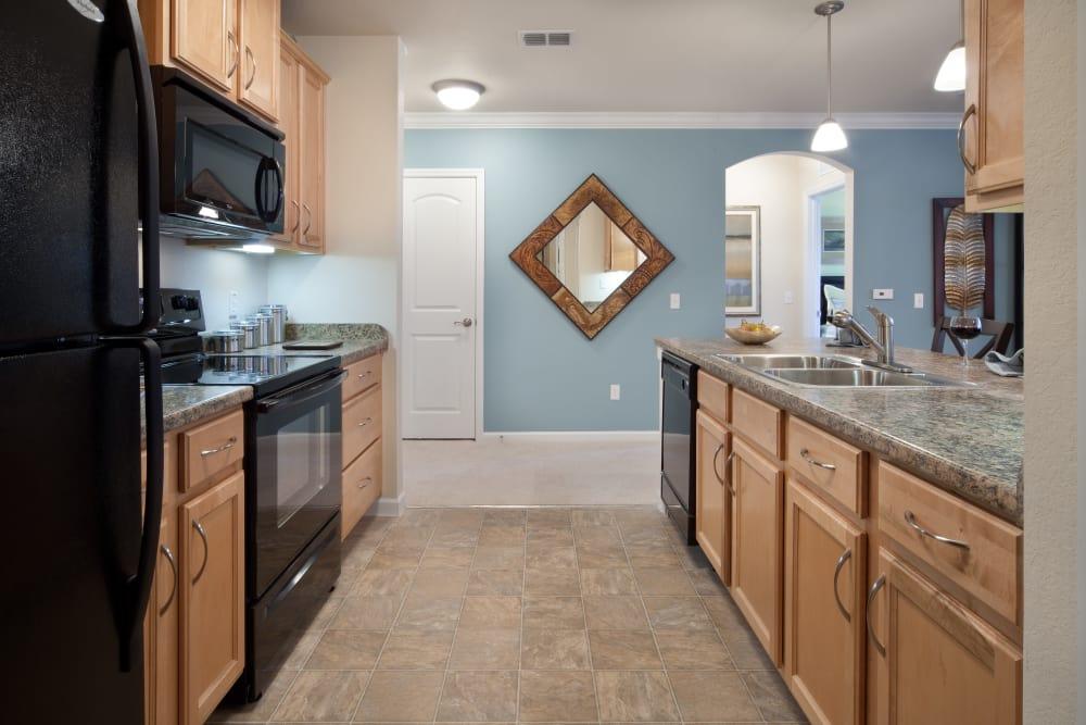 Kitchen in model home at Villa Grande on Saxon in Orange City, Florida