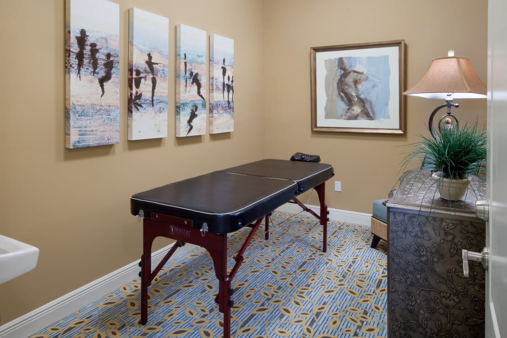 Massage table at Villa Grande on Saxon in Orange City, Florida