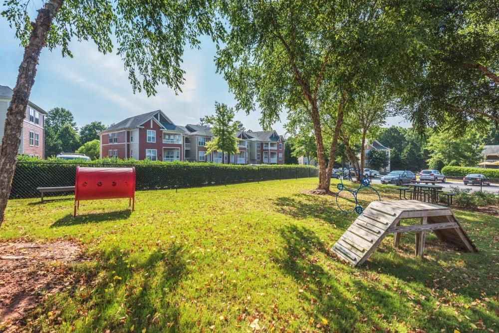 Onsite bark park at 200 East in Durham, North Carolina