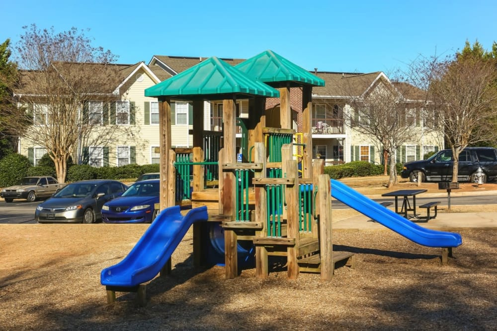A playground for children at Oconee Springs Apartments in Gainesville, Georgia