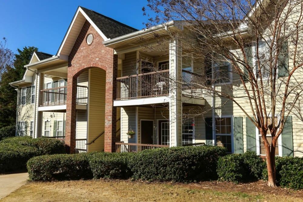 Apartments exterior at Oconee Springs Apartments in Gainesville, Georgia