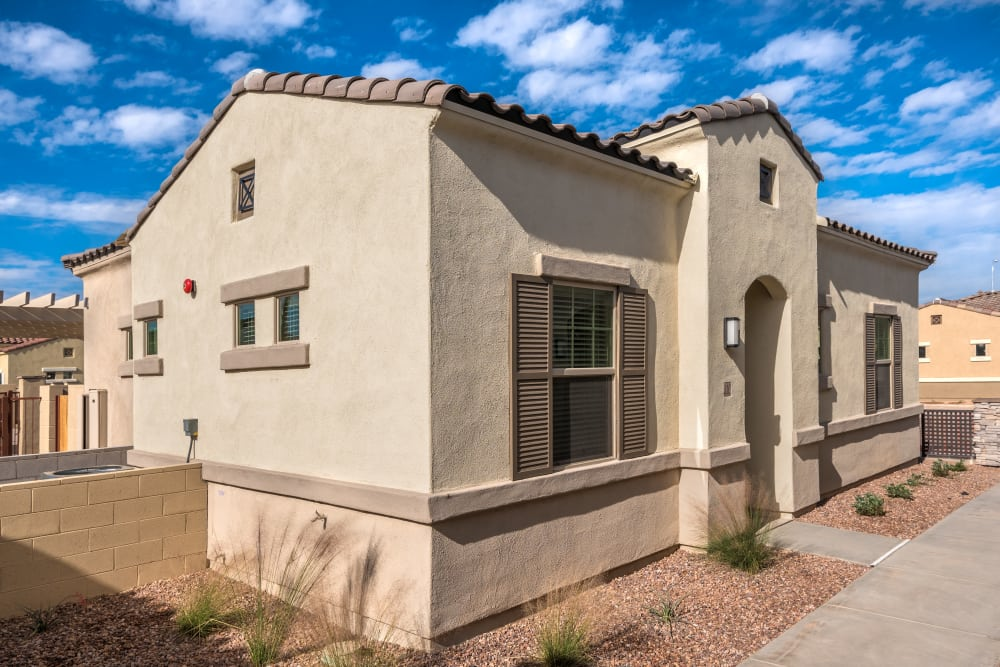 Pitched roofs at Avilla Meadows in Surprise, Arizona