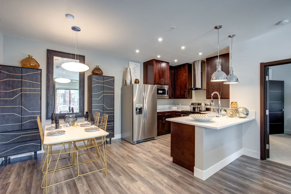 Kitchen & dining room at Empire | Apartments in Henderson, NV