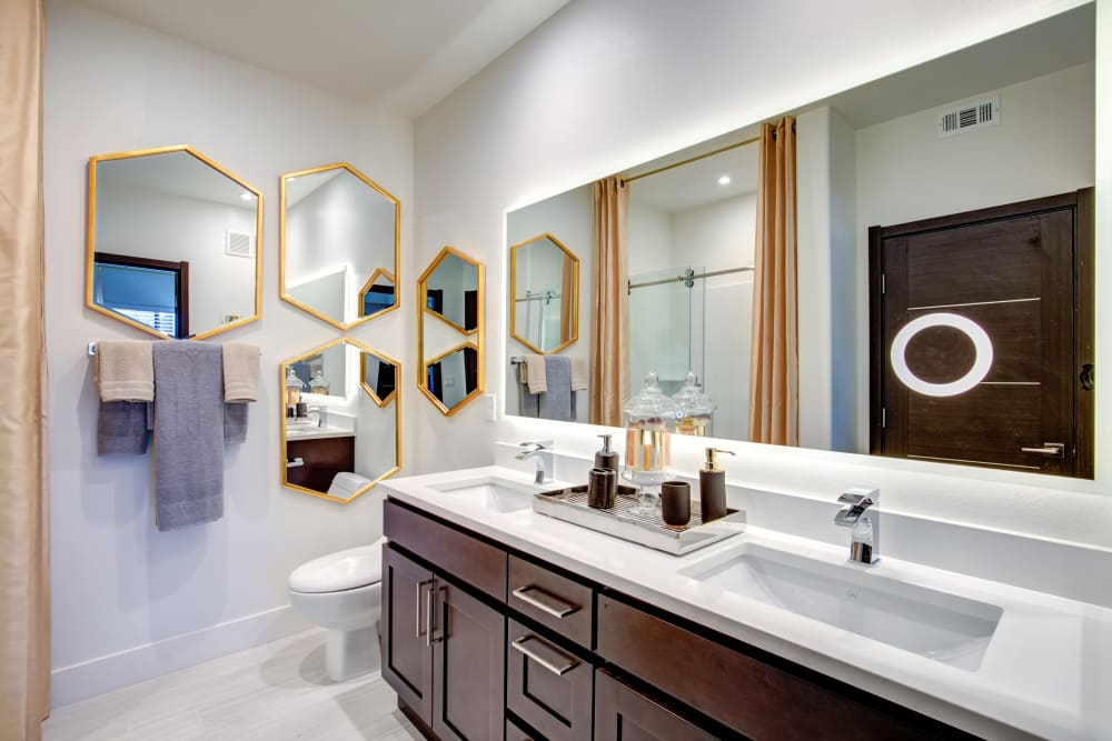 Double sink bathrooms at Empire | Apartments in Henderson, NV