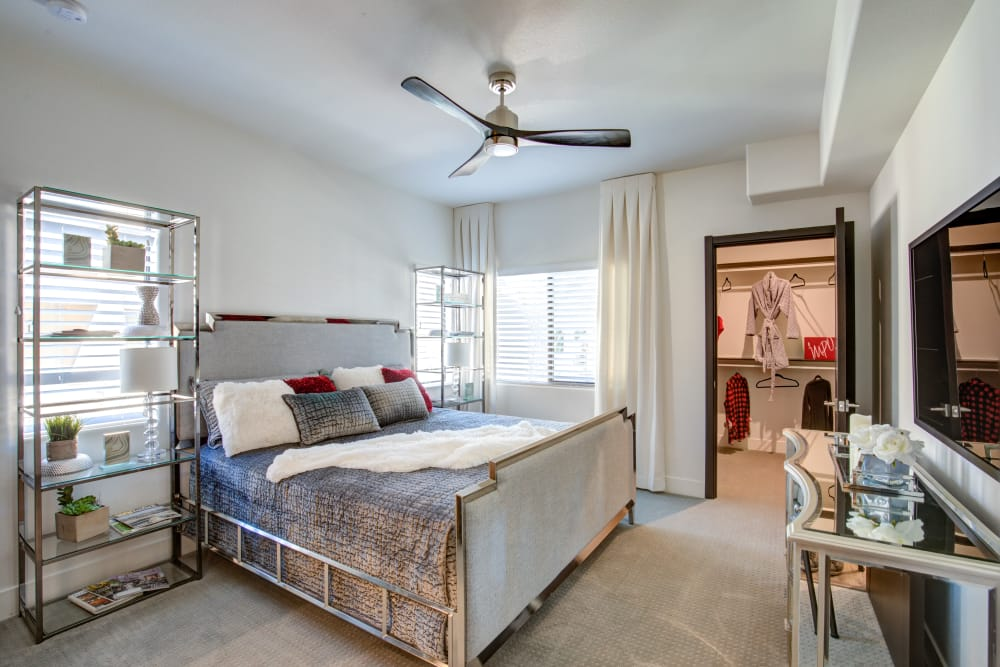 Bedroom w/ walk-in closet at Empire | Apartments in Henderson, Nevada