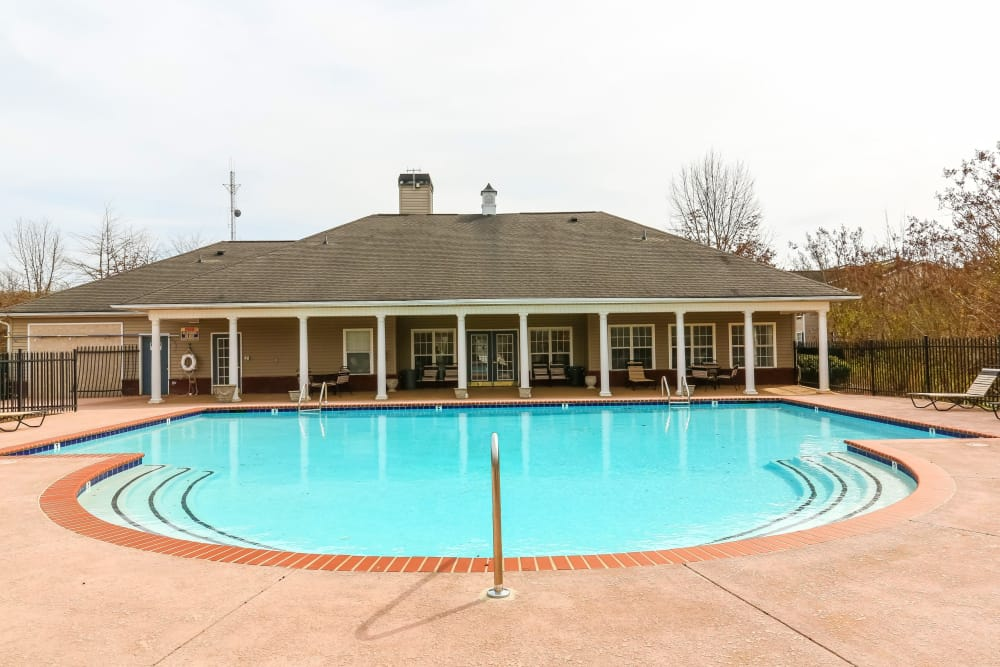 The community pool at Paces Landing Apartments in Gainesville, Georgia