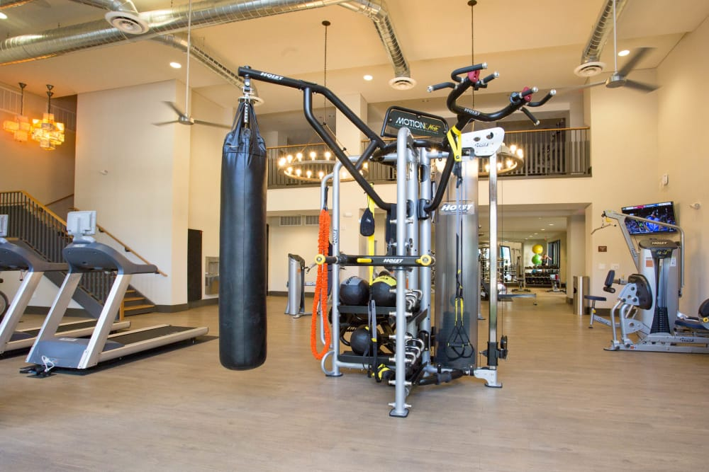 Onsite fitness center at Avant at Fashion Center in Chandler, Arizona