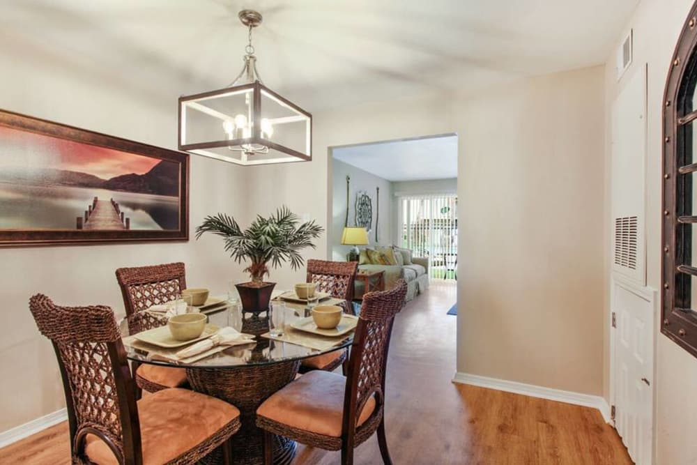 Our Beautiful apartments in Harvey, Louisiana showcase a Dining Room