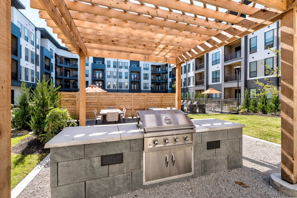 Outdoor Barbecue area at Echelon Luxury Apartments in Cincinnati, Ohio