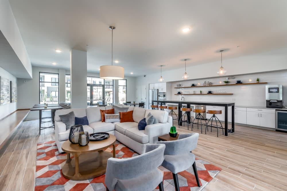 Clubhouse at Echelon Luxury Apartments in Cincinnati, Ohio