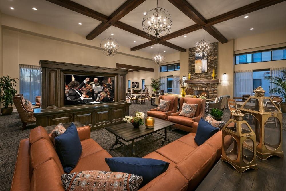 Lavishly decorated resident clubhouse at San Piedra in Mesa, Arizona