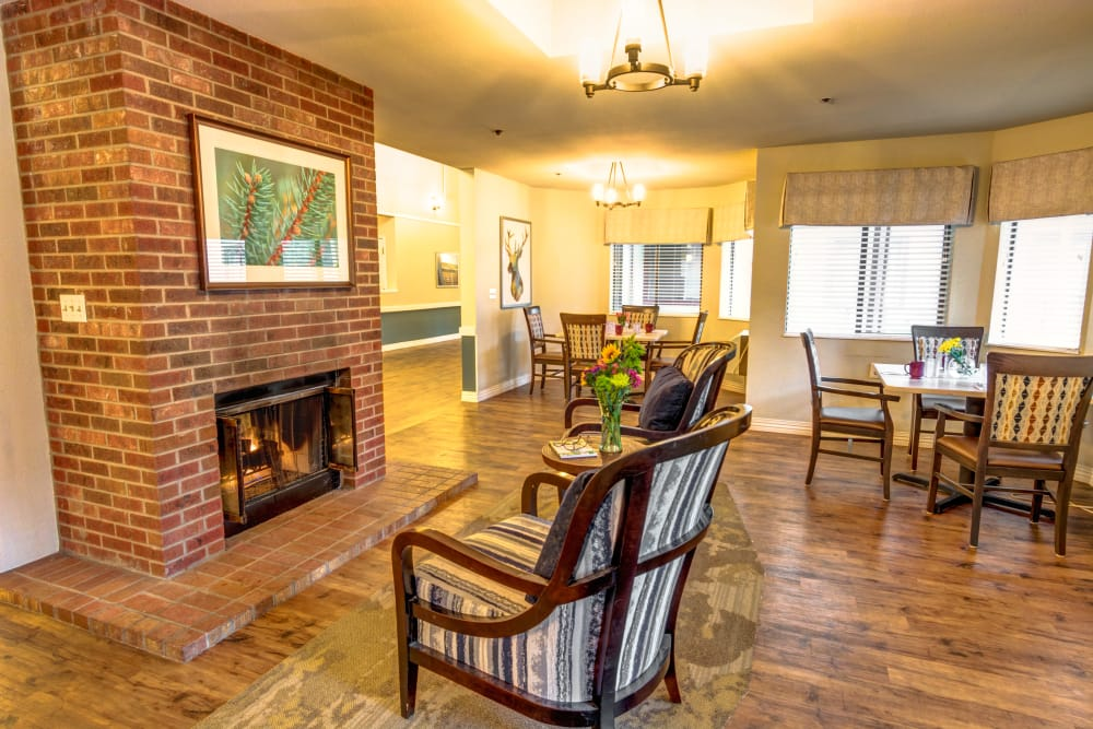 Northglenn Heights Assisted Living fireplace