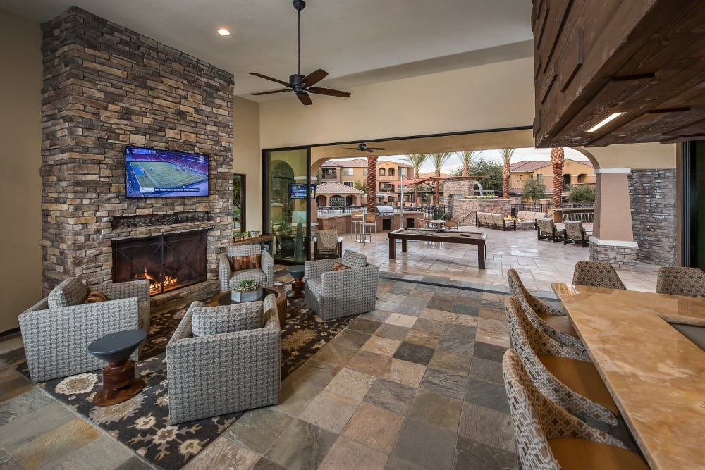 Resident clubhouse interior at Stone Oaks in Chandler, Arizona
