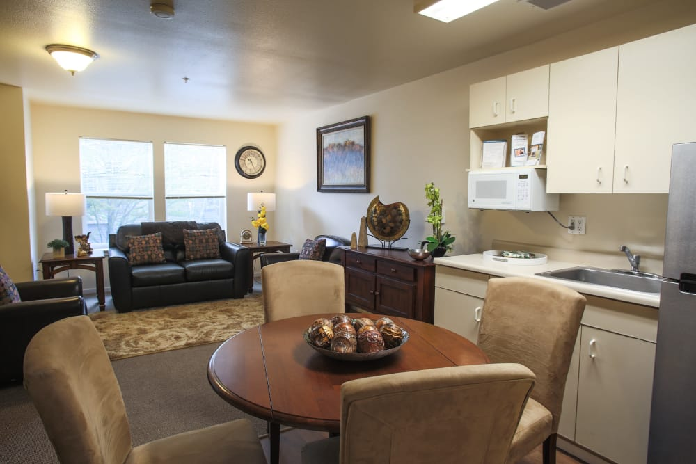 Open, spacious floor plans at Gencare LifeStyle at Steel Lake in Federal Way, Washington